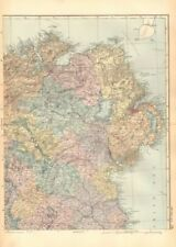 Ireland Lithography Antique Europe Sheet Maps