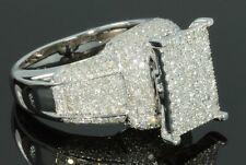 1.67 CT WOMENS LADIES WHITE GOLD FINISH DIAMOND ENGAGEMENT BRIDAL WEDDING RING