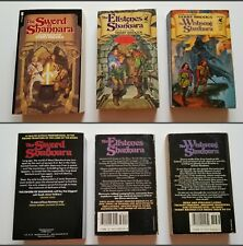 *1st/1sts* Sword of Shannara, Elfstones, Wishsong, Terry Brooks. PAPERBACKS!!!