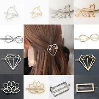 Fashion Retro Women Gold Silver Metal Animal Flower Barrette Hair Clip Hair Pin