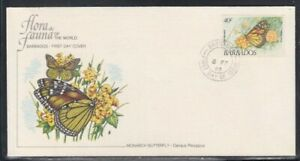 BARBADOS Monarch Butterfly FIRST DAY COVER