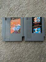 Super Mario Bros 1/Duckhunt And Joust LOT Nintendo NES Authentic