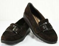 STEWART WEITZMAN Brown Suede Loafers Womens Slip On Shoes Size 9 M Horsebit