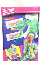 Barbie Doll Mattel Vintage 1993 Fashion Clothes Tie Dye Kit Accessory Green Blue