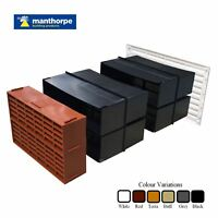 "9"" x 6"" Extendable Combination Cavity Wall Sleeve, Gas Heating Vent & Air Bricks"