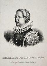 Charlotte de Bourbon-Montpensier Nassau Oranien Portrait Lithographie lithograph