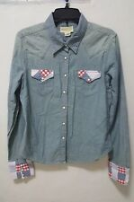 Ralph Lauren Denim & Supply Juniors blue jean shirt Sz XL Medium Cotton Western