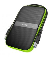 4TB Silicon Power Armor A60 Shockproof Portable Hard Drive USB3.0 - Black/Green
