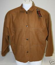NOS Vintage De Senneville Women`s Medium Koniak Wool Light Jacket Coat NWT