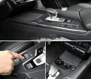 FOR 2019 INFINITI QX50  Inner Gear Shift Box Panel Cover Trim Real carbon fiber