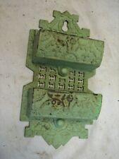 Antique Cast Iron Double Pocket Wall Match Safe Holder Ornate Victorian Eastlake