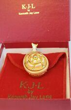Elegant Vtg Ltd Ed Kenneth Jay Lane KJL Critters Snail Pin Snuff Pill Box MIB