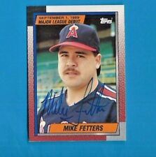 MIKE FETTERS AUTOGRAPH 1990 TOPPS AUTO  SIGNED ANGELS
