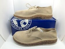 BIRKENSTOCK Mens Gary Sand Taupe Suede Oxfords Shoes Sz 12 EU45 ZB6-1233