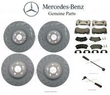 For Mercedes W222 S600 Front & Rear Brake Disc Rotors Pad Sets & Sensors Genuine