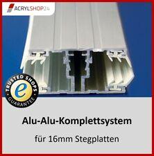 Schraubprofil Mitte und Rand - Alu Verlegesystem für Doppelstegplatten 16mm NEU