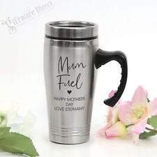 Engraved Personalised Stainless Steel Thermal Travel Coffee Mug Mothers Day Gift