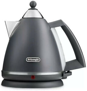 De'Longhi KBX3016.GY Argento Silva Kettle with Anti-scale Filter 1.7L 3000W Grey