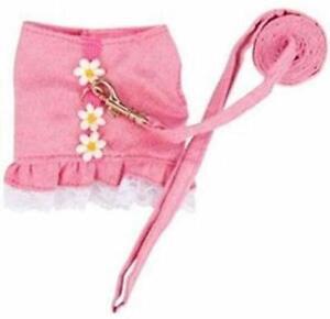MARSHALL PET FERRET SPORTY SHIRT FLOWER PINK DRESS HARNESS. FREE SHIP TO THE USA