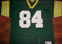 Sterling Sharpe 84 Green Bay Packers NFL NFC Logo 7 Yellow Vintage Jersey L 46