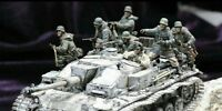 1/35 1:35 Resin Panzer Stug Crew Riders 8 Figures World War II Figures Model Kit