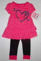 Circo GIRLS  2 PCS OUTFIT  SIZES  18M or  2T or 3Tor 4T   NWT Pink Hearts