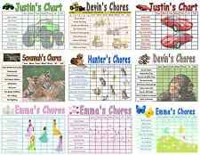 Childrens Chore Chart choose your Chores, Multiple Themes Available, Reusable