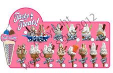 ice cream van sticker TASTY TREATS COLLECTION