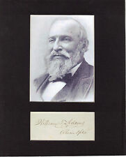 William Taylor Adams Signed matted with photo