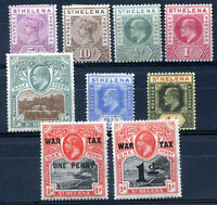BRITISH ST HELENA 9 DIFFERENT STAMPS LOT MH VF