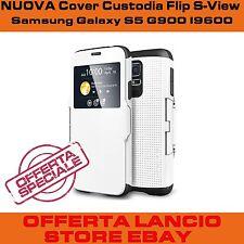 Samsung Galaxy S5 I9600 G900 custodia resistente bianca flip case