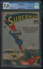 SUPERMAN 7 CGC 7.5 11-12/40 1ST APP OF PERRY WHITE JERRY SIEGEL STORY DC