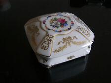 BOITE A COUTURE pique aiguilles coussin PORCELAINE LIMOGES COFFRET JEWELRY BOX