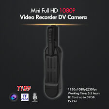 T189  Pocket Mini Pen Camera FHD 1080P USB Video Recorder Digital DV Cam Battery