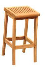 STOOL BAR CHAIRS A+ GRADE TEAK SET GARDEN OUTDOOR PATIO NEW - GIVA COLLECTION