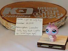 Littlest Pet Shop Light-up Lavender Lady Bug #2308 Authentic LPS