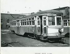6AA788 RP 1947 AKRON TRANSPORTATION CO TROLLEY #2024 KENMORE BARNS AKRON OH
