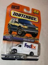 Matchbox 23 Ford Box Truck Fedex On Card Rare Van!