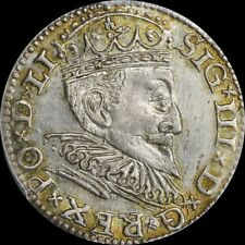 FINEST @ NGC & PCGS MS63 SIGISMUND III RIGA POLAND 3GR GROSCHEN UBER-TONED TOP