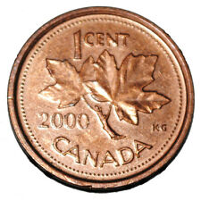 Canada 2000 1 Cent Zinc One Canadian Penny Coin Non Magnetic