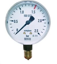 Manometer Acetylen Gas  Arbeitsdruck 2,5bar