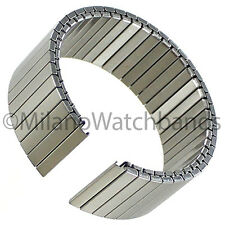 22mm Hadley Roma Smart 22 Flat Satin Stainless Steel Finish Mens Watch Band 8006