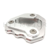 Side Stand Kickstand Extension Pad for KTM 1290 Super Duke GT 2013-2018 Silver