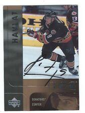 Martin Havlat Signed 2001/02 Upper Deck Ice Card #31