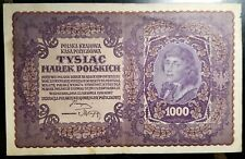 Poland: 1919 1000 Marek Polskich CIRCULATED VERY FINE CONDITION !!!!!