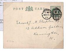 """Q300 1904 Londra. """"testo pubblicazione Society"""""""