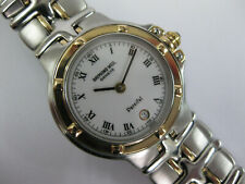 Ladies Raymond Weil Parsifal Steel & Gold White Dial & Gold Bezel 9990 B&P #1132