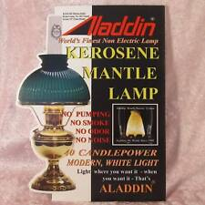 ALADDIN LAMP DEALER'S SIGN  alladin kerosene oil advertising