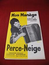 Partition Mon manège Perce Neige Valses Yvette Horner