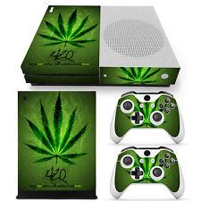 XBOX ONE S Skin Design Foils Aufkleber Schutzfolie Set - Cannabis 2 Motiv